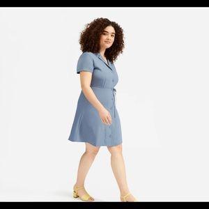 Everlane Goweave Triacetate shirt dress 16